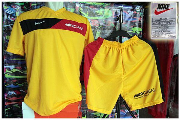 Setelan Kaos Nike Mercurial Kuning Rp 75.000