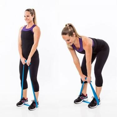 Stuck at home? Do resistance band deadlifts. They're a great do-anywhere alternative.