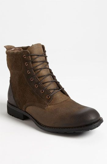 Timberland Earthkeepers® 'City' Plain Toe Boot ($180.95), earthy, worn, burnished leather, soft suede with side zipper for quick entry. Men's at Nordstrom.