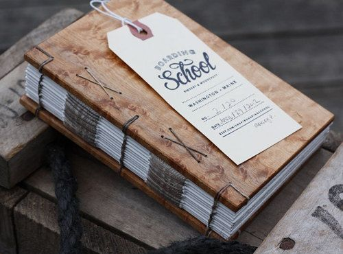 boardingschool   These wood journals are made from reclaimed or recycled wood and are hand-bound with heavyweight watercolor paper