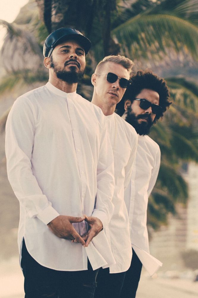Major Lazer is an American electronic music band composed of record producer Diplo, Jillionaire, and Walshy Fire. It was founded by Diplo and Switch, but Switch left in 2011. Its music spans numerous genres, mixing reggae with dancehall, reggaeton, house, and moombahton.