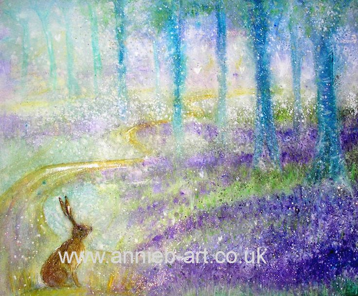 the magical journey of the hare into the bluebell woods and his heart