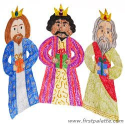 Three Kings paper chain craft - fun while studying about Christmas!Chains Crafts, Art Crafts, King Chains, Kids Crafts, Wise Men, Paper Three, Catholic Inspiration, Three King, Epiphany Activities