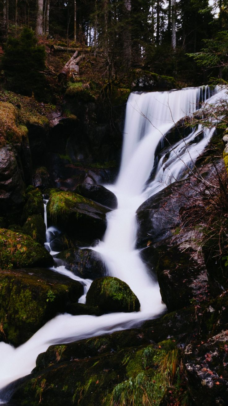 Rocky Waterfall Phone Wallpaper Lockscreen HD 4K Android
