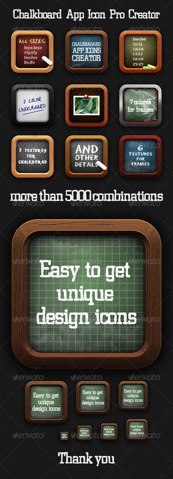 Shirt design maker app - Chalkboard App Icon Pro Creator