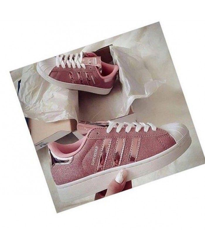 Adidas Pink Superstar Shoes Womens Clearance Uk Glitter rvrAqwz