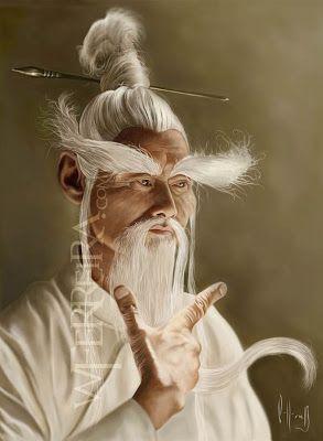 "Caricatures & Illustrations: Gordon Liu as ""Master Pai Mei"""