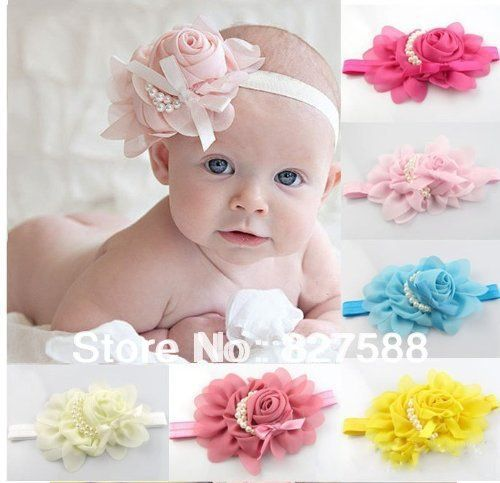 Cheap headband bandanas, Buy Quality headband fascinator directly from China flower headband shop Suppliers: product Feature:13Colors New Fashion Hot Infant Baby Toddler Rose Flower Pearl Headband Headwear