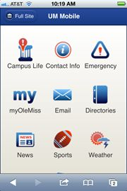 """Adventures in Mobility   by Kathryn F. Gates U. Miss. (Educause July 18)      Mobility is just the latest transformative technology to grab the attention of higher education IT, challenging us to map out strategies.      Ole Miss produced a killer university news app targeting the entire campus community. Moving quickly to provide this mobile news app gave the university more time to develop a comprehensive mobile strategy for future efforts. See """"Official Ole Miss App"""" in Apple's AppStore"""