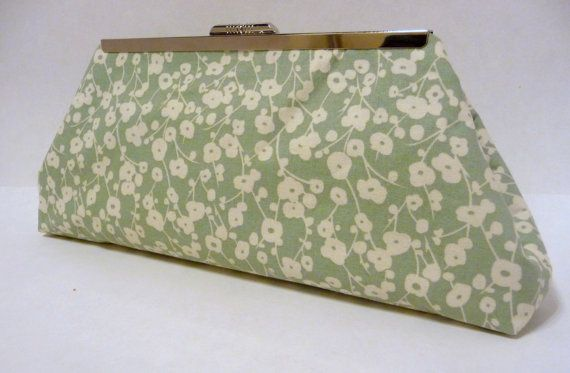 Floral Clutch Green Floral Purse Bridesmaid by HighCountryBride, $40.00