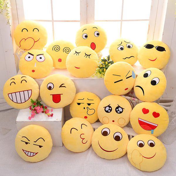 Cute, Emoji Expression, Throw Pillow, Stuffed, Plush, Sofa, Bed, Cushion