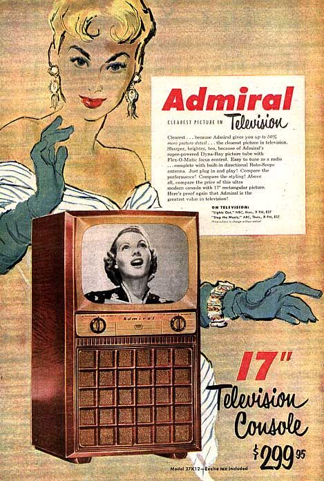 Admiral Television 1951