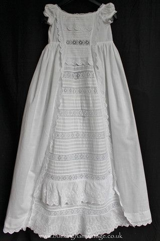 Antique Christening Gown Baptism Dress Broderie Anglaise ...