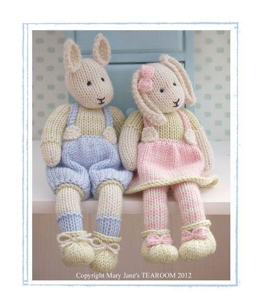 2 breien patroon Deal / LILY & SAMUEL... Baby Bunnies lente / konijnen / Pdf Toy Knitting patronen / INSTANT Download
