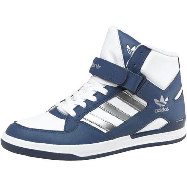 adidas Originals Mens Forum Mid Remo Trainers White/Silver/Navy 40.00