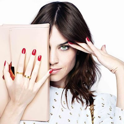 Alexa Chung in collaboration with NAILS INC!