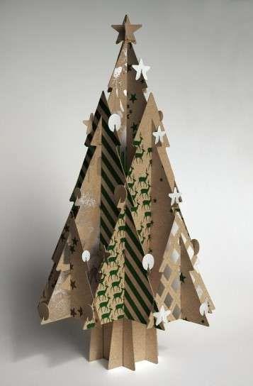 Árboles de Navidad ecológicos: fotos ideas - Manualidades con cartón