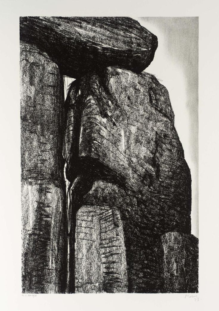 Henry Moore OM, CH 'Stonehenge XI', 1973 © The Henry Moore Foundation. All Rights Reserved