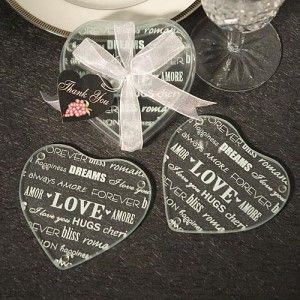 High Quality Glass Coaster Favors Make Very Practical Wedding Favor Gifts Are Elegant And Fitting For Any Theme