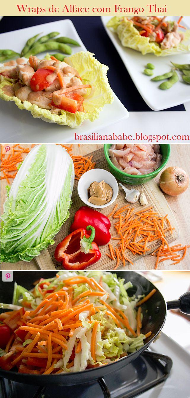 Receita: Wraps de Alface com Frango Thai