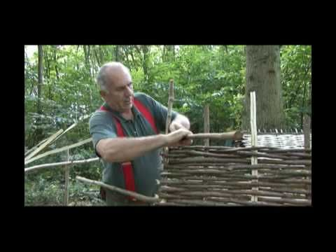 How to make a hurdle (fence panel) with only wood and hand-tools. These could be used for many things other than fencing.