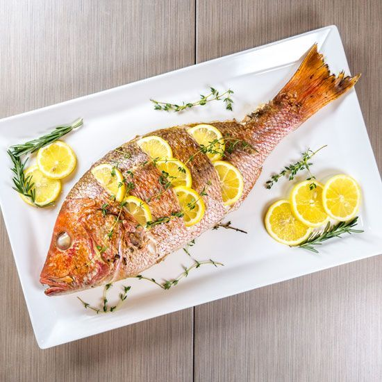 Grilled whole red snapper -  Love