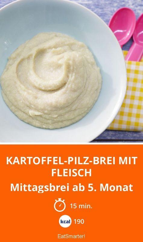 Kartoffel-Pilz-Brei mit Fleisch