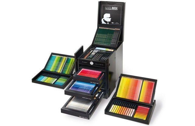 Karl Lagerfeld lança kit de lápis, tintas e pincéis com a Faber-Castell