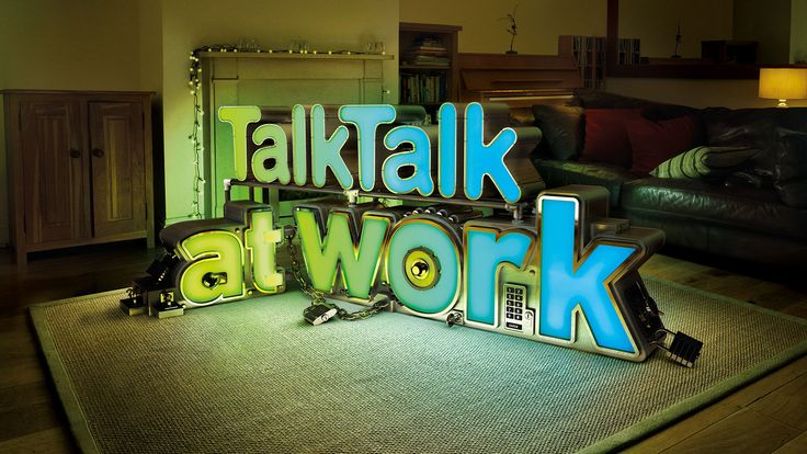 FOREAL – TalkTalk at work – Home Safe, 3D, Lettering, Typography, Advertising, CGI, 3D-Type, 3D Type, 3D-typo