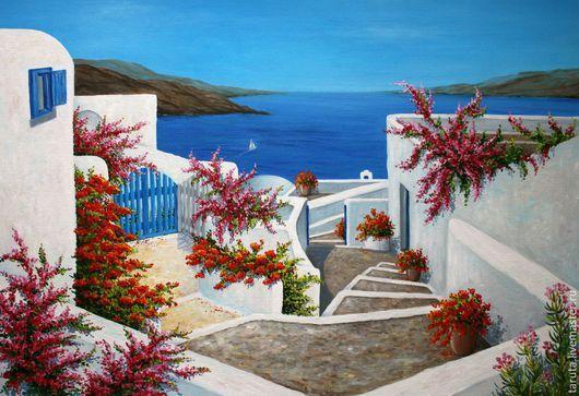 "Картина ""Греция"" (холст, масло)"