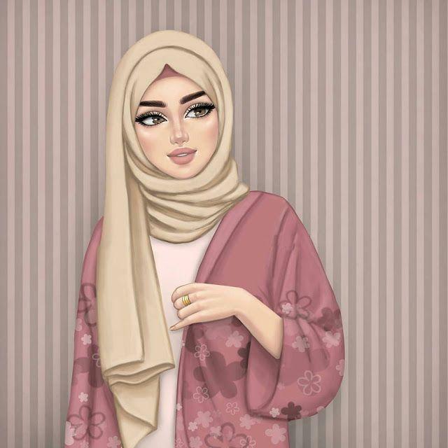 Jutaan Gambar Kumpulan Kartun Hijab Muslimah Cute Beautiful Girl Drawing Girly M Hijab Drawing