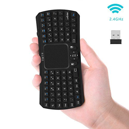 Mini Wireless Keyboard Touchpad : Jelly Comb 2.4GHz Handheld Remote Control Touchpad Keyboard with Mouse for Smart TV TV Internet Boxes PC Laptop PS3 PS4 Microsoft Surface Tablet HTPC IPTV ect