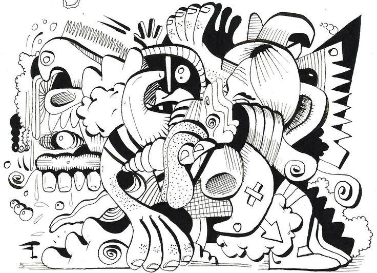 Oeuvre originale - Titre du dessin : LA SURVIE