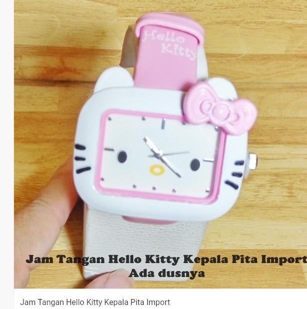 Jam Tangan Hello Kitty Kepala Pita Import