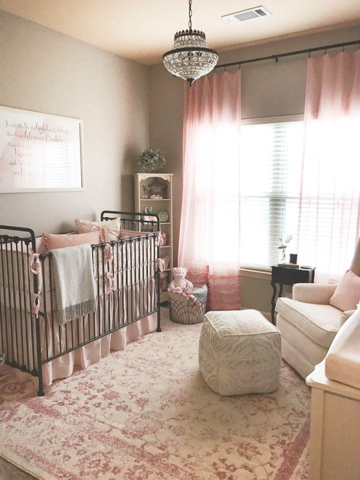pink baby furniture. finished nursery for our baby girl rose blush ivory and gray with pink furniture y