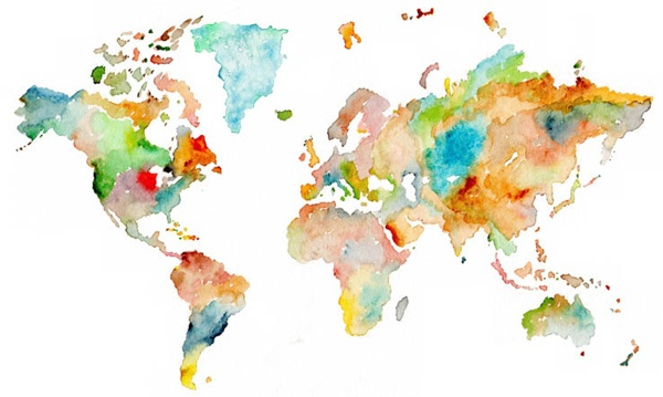 Matteo Pericoli - Map of the World, © 2011   Also check out Manhattan Unfurled as featured on the Beastie Boy's 'To The Five Boroughs'