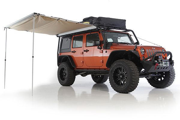 Jeep Overlander awning by Smittybilt - ultimate Jeep camping accessory http://savagecamper.com/jeep-camping-gear/