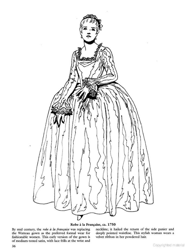 17 Best Images About Historical Fashion Coloring Pages On