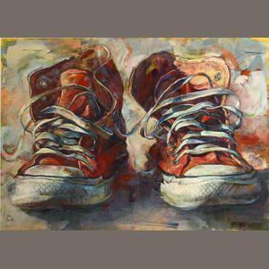Gordon Keith Smedt (American, born 1961) Red chucks, 2003 55 1/4 x 74in