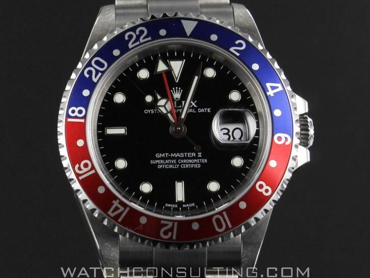 Vente et location de montres de luxe d'occasion - ROLEX GMT MASTER 2
