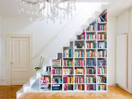 bookshelf staircase