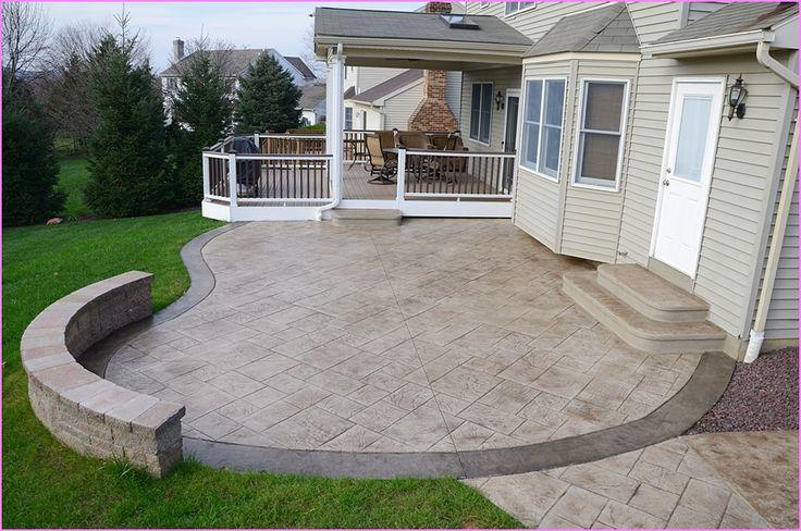 ideas about stamped concrete patios on pinterest concrete patios