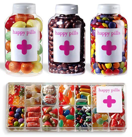 Regalos con buen rollo para los invitados a la boda: Las Happy Pills
