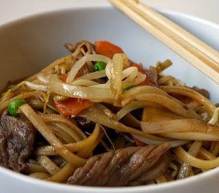 Varomeando: Tallarines fritos con ternera estilo chino