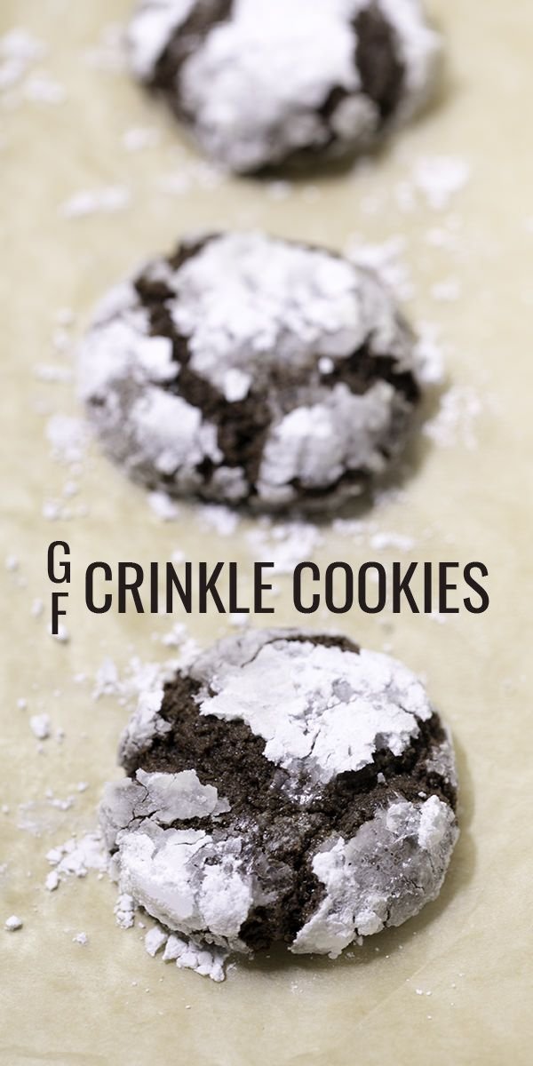 Classic gluten free chocolate crinkle cookies are positively fudgy inside, almost crisp outside. They're one of the very best holiday cookies ever invented.