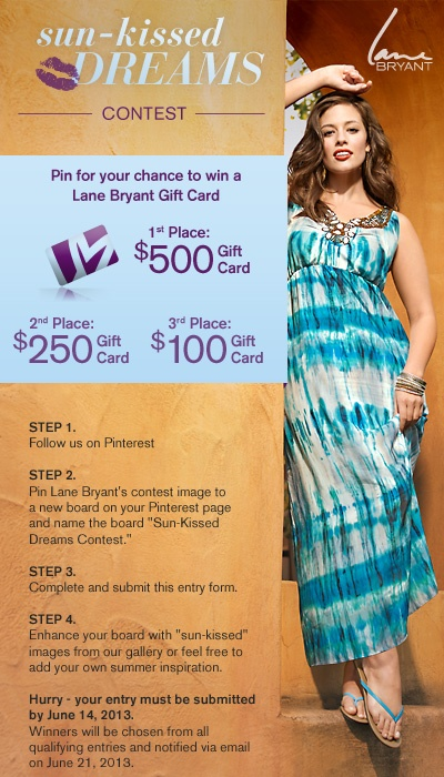 Pin for your chance to win a $500 Lane Bryant Gift Card