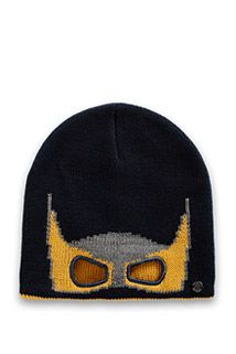 Esprit / Soft knitted hat with a superhero mask