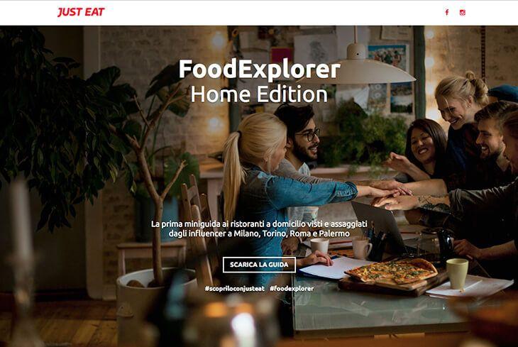 I migliori ristoranti delle più importanti città italiani sono segnalati nella Food Explorer Home Edition di Just Eat.