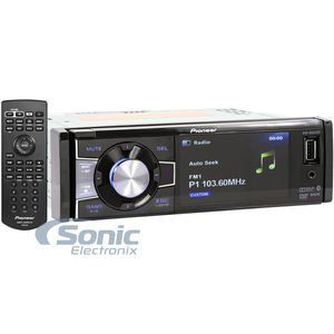 """Pioneer DVH-885AVBT Single DIN Bluetooth In-Dash DVD/CD/AM/FM/Digital Media Car Stereo Receiver w/ 3.5"""" TFT Display. 50W x 4 Chan. MAX. 17W x 4 Chan. RMS. 2 Sets of 4V Preamp Outputs. 3.5"""" TFT LED Backlight Display. 3-band graphic EQ."""