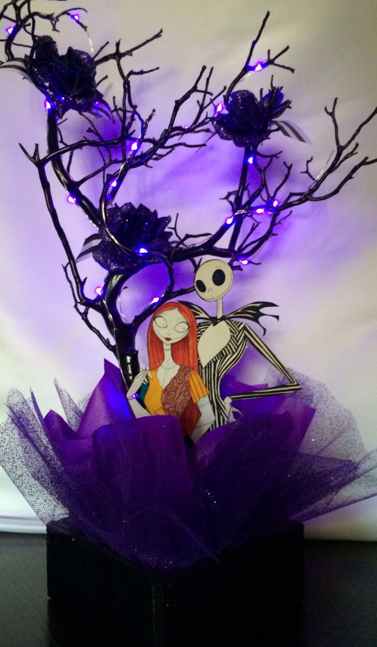 Nightmare Before Christmas Centerpiece By Bizzie Bee